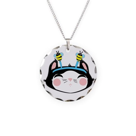 Kitty Face (txt) Necklace