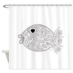 emma walters memories.fish. Shower Curtain