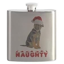 Naughty German Shepherd Flask