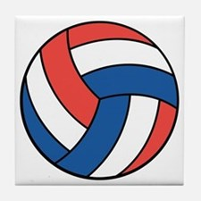 Red, White and Blue Volleyball Tile Coaster