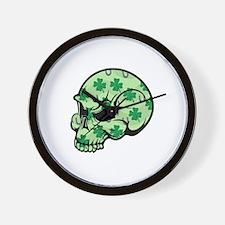 Irish Lucky Skull Wall Clock