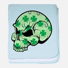 Irish Lucky Skull baby blanket
