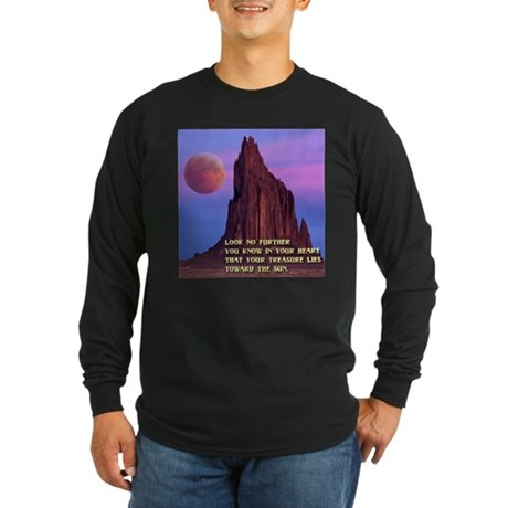 Red Moon at Shiprock, NM Long Sleeve Dark T-Shirt
