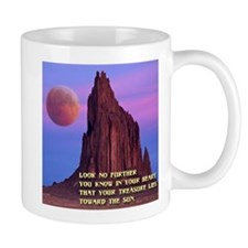 Red Moon at Shiprock, NM Mug