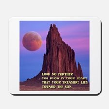 Red Moon at Shiprock, NM Mousepad