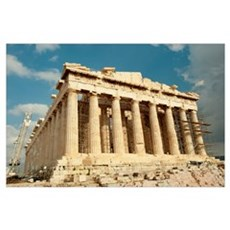 Ruins of columns, Acropolis, Parthenon, Athens, At Poster