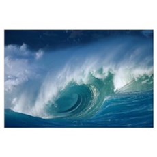 Hawaii, Oahu, Aimee Shore Break, Big Waves Poster