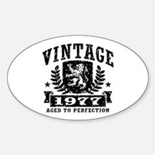 Vintage 1977 Sticker (Oval)