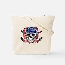 Give Blood Hockey Blue Tote Bag