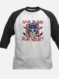 Give Blood Hockey Blue Tee