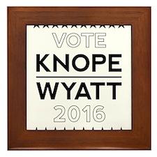 Knope/Wyatt 2016 Campaign Framed Tile