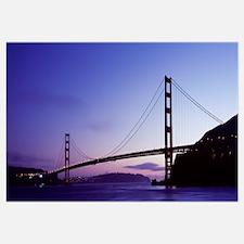 Silhouette, Golden Gate Bridge, San Francisco, Cal