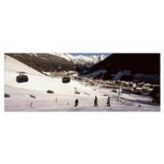 Ski lift in a ski resort, Sankt Anton am Arlberg,  Poster