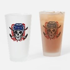 Give Blood Hockey Blue Drinking Glass