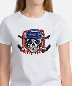 Give Blood Hockey Blue Tee