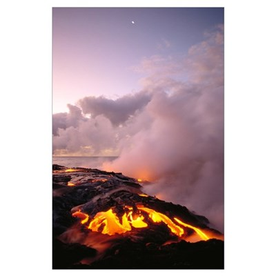 Hawaii, Big Island, Hawaii Volcanoes National Park Poster