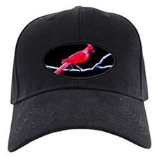 Red Cardinal on Branch Baseball Hat