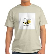 Bee Happy Ash Grey T-Shirt