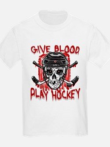 Give Blood Hockey Black T-Shirt