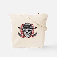 Give Blood Hockey Black Tote Bag