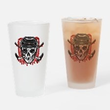 Give Blood Hockey Black Drinking Glass