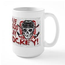Give Blood Hockey Black Mug