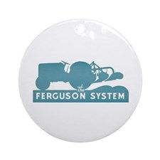 Ferguson Tractor Ornament (round)