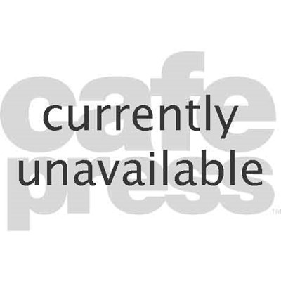 Silhouetted Golfer In Dramatic Orange Sunset Sky Poster