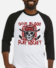 Give Blood Hockey Red Baseball Jersey