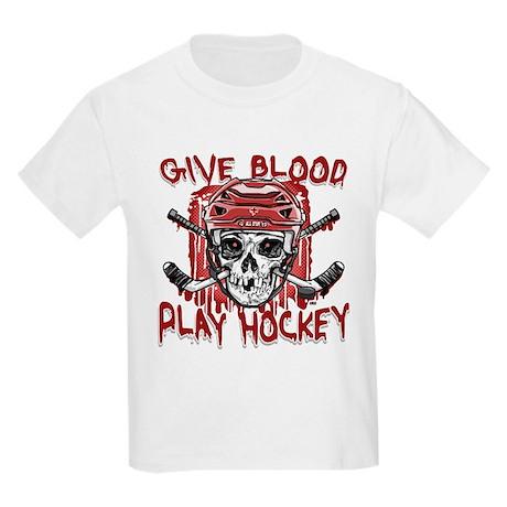 Give Blood Hockey Red Kids Light T-Shirt