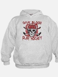 Give Blood Hockey Red Hoodie