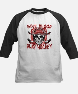 Give Blood Hockey Red Tee