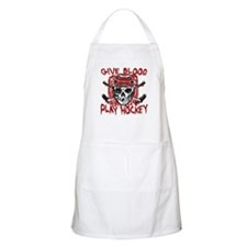 Give Blood Hockey Red Apron