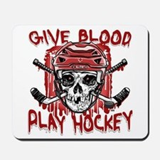 Give Blood Hockey Red Mousepad