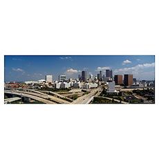 Skyscrapers in a city, Atlanta, Fulton County, Geo Poster