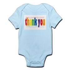 Thank You Greeting Card Infant Bodysuit