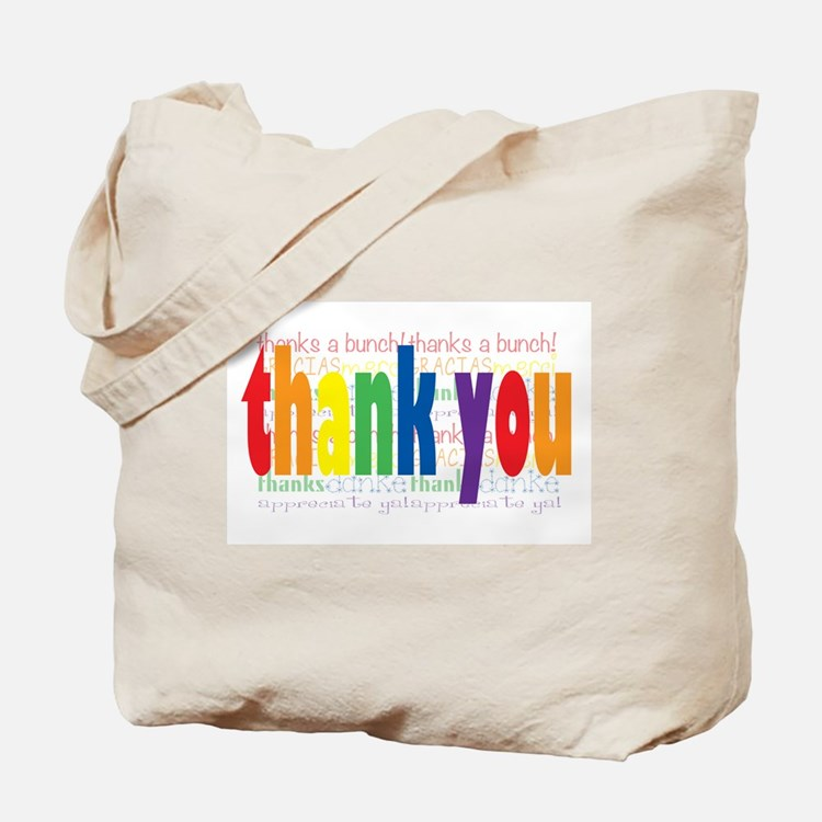 Thank You Greeting Card Tote Bag