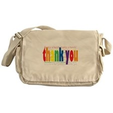 Thank You Greeting Card Messenger Bag
