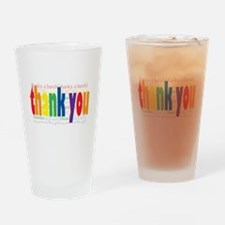 Thank You Greeting Card Drinking Glass