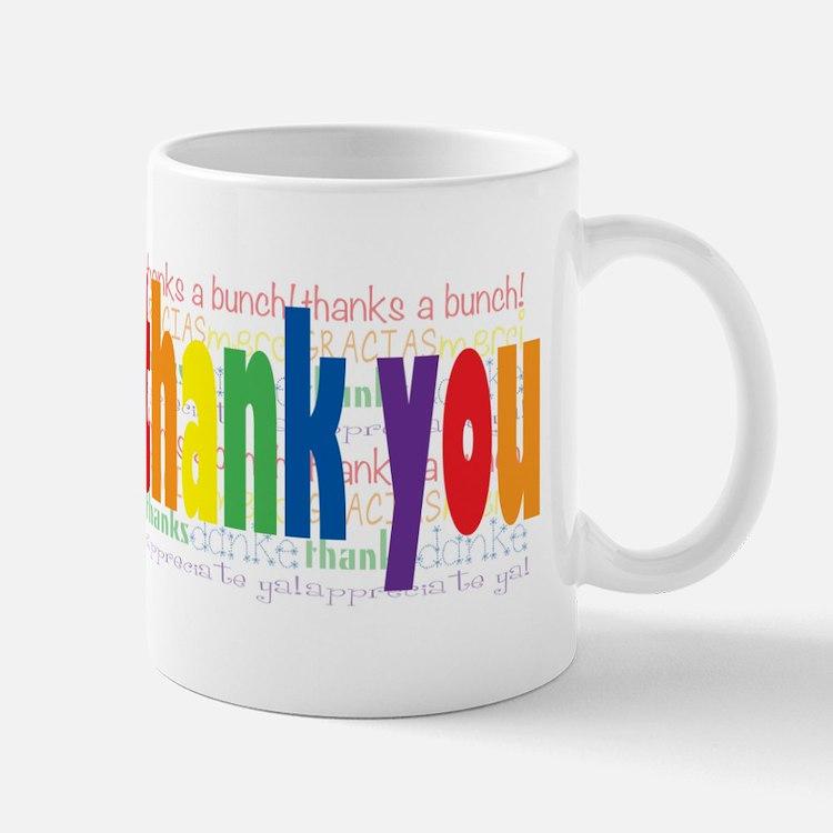 Thank You Greeting Card Mug
