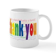 Thank You Greeting Card Small Mugs
