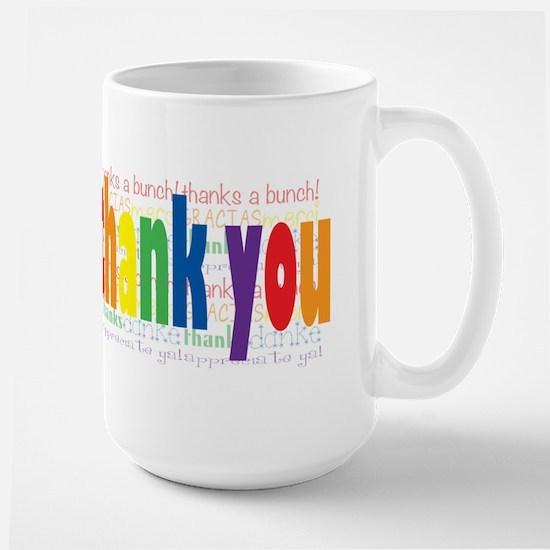 Thank You Greeting Card Large Mug