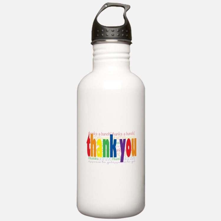 Thank You Greeting Card Sports Water Bottle