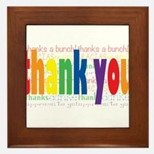 Thank You Greeting Card Framed Tile