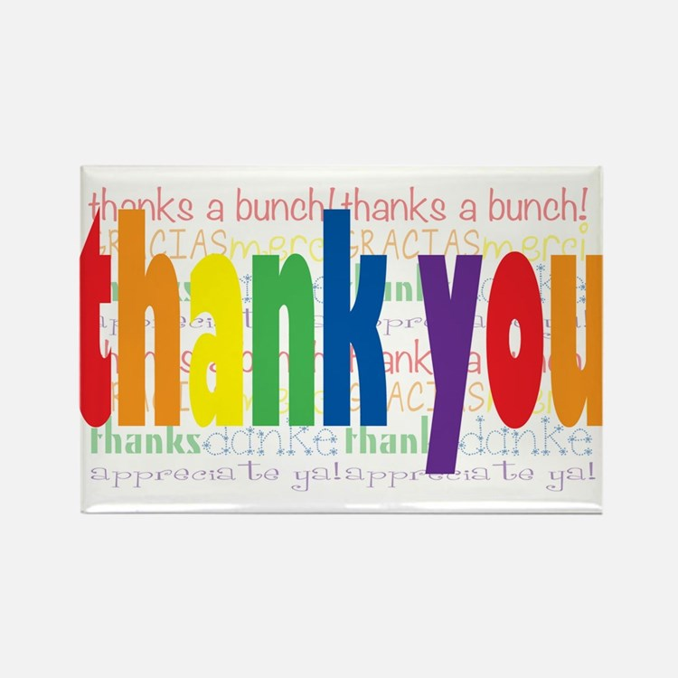 Thank You Greeting Card Rectangle Magnet