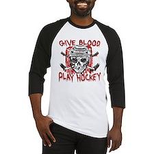 Give Blood Hockey White Baseball Jersey