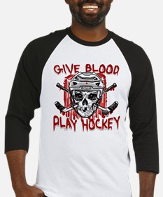 Give Blood Hockey White Baseball Jersey