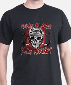 Give Blood Hockey White T-Shirt