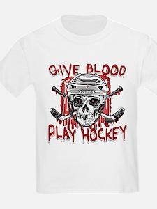 Give Blood Hockey White T-Shirt