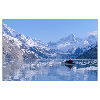 Alaska, Glacier Bay, View Of Snow Covered Mountain Poster